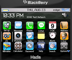 Blackberry Theme iPhone Black