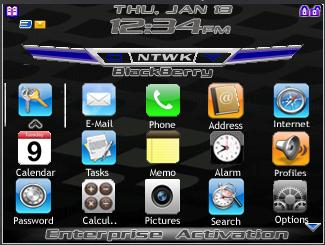 BlackBerry 8700 iPhone theme