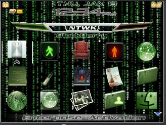 BlackBerry 8700 Matrix theme
