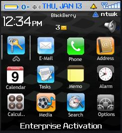 Blackberry Pearl iPhone theme